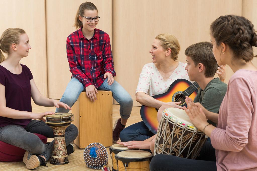 Musikunterricht in der Schule